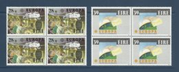 Irlande Ireland 1988 Yvert 653/654 ** Europa 1988  Transport Et Communications Airbus A320  Mappemonde. Bloc De 4 - 1988