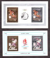 Blocs Or, Argent Et Multicolore - Neufs ** - JO Albertville Et Barcelone - 1992 - Combiné Nordique - Equitation - Guyane - Olympische Spiele