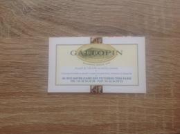 Carte De Visite De Brasserie. Galopin.  Paris 2eme - Visitekaartjes