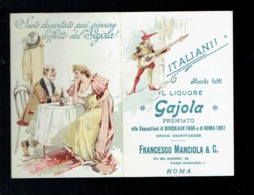 Petit Calendrier 1898 Italianii Liquore Gajola Francesco Manciola - 10x14 Cm Ouvert - Calendriers