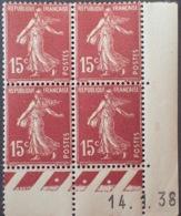 R1189/275 - 1938 - TYPE SEMEUSE - N°189 (II) TIMBRES NEUFS** CdF Daté - Coins Datés