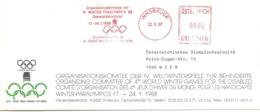 1988  EMA Du  Comité D'Organisation Des Quatrièmes Jeux Paralympiques D'Hiver à Innsbruck - Olympische Spiele