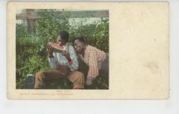 """ETHNIQUES ET CULTURES - AMÉRIQUE - U.S.A. - Hommes Noirs Mangeant Une Mangue """"Envy""""- DETROIT PHOTOGRAPHIC CO. PUBLISHERS - América"""