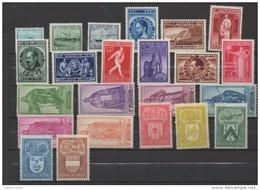 Année 1946 ** Complète ( 23V) Sans Les Timbres Surchargés -10% - Bélgica