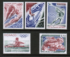 MONACO  Scott # 1025-9** VF MINT NH (Stamp Scan # 549) - Monaco