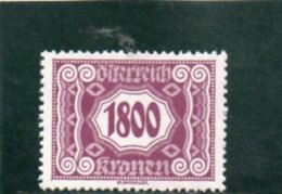 AUTRICHE 1922-4 * - Taxe