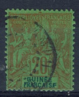 """French Guinea, 20c., """"GROUPE"""", 1892, VFU - Used Stamps"""