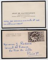 VP16.053 - CDV - Carte De Visite - Mr Jean De HAUTECLOCQUE Ambassadeur De France .....à TUNIS - Visitekaartjes