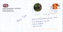 Portugal Cover Sent To Denmark 28-12-2004 Topic Stamps Bird, Football - 1910-... République