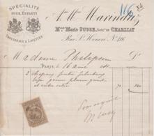 ** Ane Mon MARINDAZ.- PARIS.-1881.- ** - 1800 – 1899