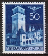 Poland German Occupation 50g Views Stamp From 1940. - General Government