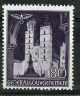 Poland German Occupation 80g Views Stamp From 1940. - General Government