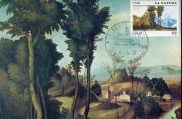 49005 Italia, Maximum 2000 The Nature, Painting Of Giorgione (detail)  Uffizi Florence - Cartas Máxima