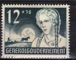 Poland German Occupation Stamp To Commemorate The 1st Anniversary Of Occupation From 1940. - General Government