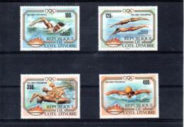 Cote Dïvoire Nº Aereo 82-85 Olimpiadas, Serie Completa En Nuevo 10 € - Sommer 1984: Los Angeles