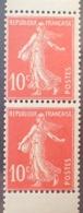 R1189/280 - 1907 - TYPE SEMEUSE - PAIRE VERTICALE DE CARNET - N°138e TIMBRES NEUFS** - Nuovi