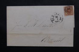 DANEMARK - Lettre De 1862, Affranchissement Plaisant  - L 46430 - 1851-63 (Frederik VII)