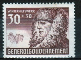 Poland German Occupation Stamp To Commemorate The Winter Relief Fund From 1940. - General Government