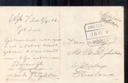 Treinstempel Amsterdam - Uitgeest - 1915 - Postal History