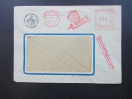 Alliierte Besetzung 1947 Firmenumschlag Freistempel UHU Füllhalter Tinte / Alleskleber UHU Werk H.u.M Fischer Bühl Baden - Bizone