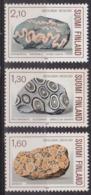 Minéraux, Géologie - FINLANDE - Granite Orbiculaire, Rapakivi Granite, Gneiss Veiné - N° 946-947-948 ** - 1986 - Finland