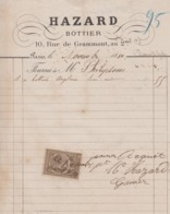 ** HAZART.- PARIS.-1880.- BOTTIER.-** - 1800 – 1899
