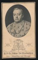 BISSCHOP BRUGGE - PETRUS DE BRABANDERE - OYGHEM 1828 - BRUGGE 1895  - 2 AFBEELDINGEN - Décès