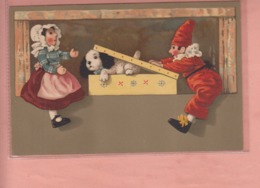 OLD POSTCARD -  - CHILDREN  - MEISSNER AND BUCH - 'CIRCUS ACT' - Children