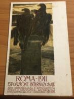 CARTOLINA PROMOZIONALE  ESPOSIZIONE INTERNAZIONALE  ROMA  1911,VIAGGIATA D. CAMBELLOTTI - Fiere