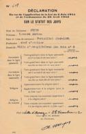 WW2 1942 - VILLE D'AVRAY (78) Déclaration De NON JUDÉITÉ Loi Du 2 Juin 1941 SUR LE STATUT DES JUIFS - Documentos Históricos