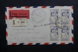 A.O.F. - Cachet Du Voyage Du Président De La République à Bamako En 1947 Sur Enveloppe En Reco. Pour Dalaba - L 46441 - Lettres & Documents
