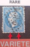 """R1917/354 - NAPOLEON III N°22 - LGC - VARIETE (RARE) ➤➤➤ Chiffre """" 2 """" Manquant En Bas à Droite - Cote Sup. à 200,00 € - 1862 Napoleon III"""
