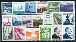 Turquía Nº 1430/39C Nuevo Cat.70€ - 1921-... República
