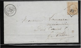 France N°21 Oblitéré GC 99 & Type 15 Angers (47) - 1867 - TB - 1862 Napoleon III