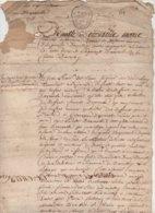 2 Documents 1753 , 1754 Aveu à Demoiselle De Monsure Dame D'Auvillier - Manuscripts