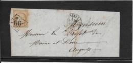 France N°59 Oblitéré GC 99 & Type 17 Angers (47) - 1872 - TB - 1871-1875 Cérès