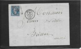 France N°22 Oblitéré GC 99 & Type 15 Angers (47) - 1866 - TB - 1862 Napoleon III