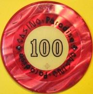 $100 Casino Chip. Casino Paradise, Nairobi, Kenya. Q75. - Casino