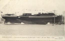 Themes Div-ref BB871 - Bateaux - Bateau -paquebots -paquebot Cuba - Port De Bouc - Lancement Du Paquebot - - Paquebots