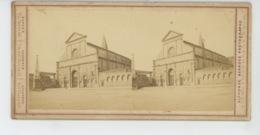 ITALIE - FIRENZE - Carte STEREO - Chiesa Santa Maria Novella - Photo ALPHONSE BERNOUD - Firenze (Florence)