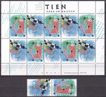1993 Tien Voor Uw Brieven Vel Van 10 + Horizontaal Paar NVPH V 1571 / 1572 Postfris - Neufs