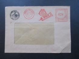 Alliierte Besetzung 1948 Firmenumschlag Freistempel UHU Füllhalter Tinte / Alleskleber UHU Werk H.u.M Fischer Bühl Baden - Zona Anglo-Américan