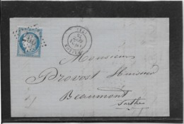 France N°60 Oblitéré GC 297 & Type 17 Ballon (71) - 1875 - TB - 1871-1875 Cérès