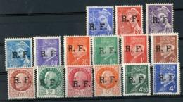 TIMBRES DE LA LIBERATION (LYON) ** (MNH) Cote 30 €. N° 1 à 15 Type Mercure Et Pétain. TB - Liberazione