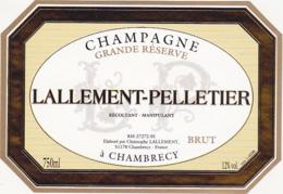 Etiquette Champagne GRANDE RESERVE BRUT - LALLEMENT-PELLETIER à CHAMBRECY (51) / 750 Ml - Champagne