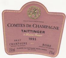 Etiquette Champagne BRUT ROSE - 1995 - COMTES DE CHAMPAGNE TAITTINGER à Reims (51) / 750 Ml - Champagne