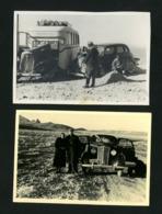 IRAN  PERSIA  TEHERAN AUTO ACCIDENTS  REAL FOTO 1930s RARE - Iran