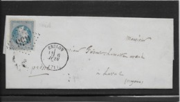 France N°29 Oblitéré GC 656 & Type 16 Bruon (71) - 1871 - TB - 1863-1870 Napoleon III With Laurels
