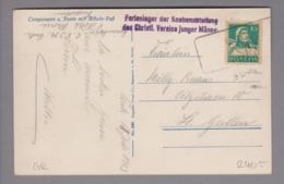 Heimat CH GR Ponte 1923-07-18 Aushilfs-Stempel Auf AK - Suisse