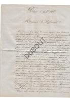 DISON/Andrimont/Verviers/Luik Lettre 1858 Ecrit Par Instituteur En Chef à Dison- 3 Pagina's (R466) - Oud